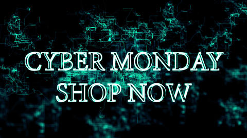 """Digital grid with 'Cyber Monday - Shop Now"""" text Footage"""
