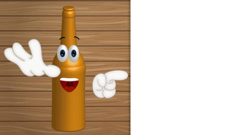 Cartoon Illustration Comic Bottle Mustard Animation