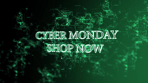 """Moving digital grid with 'Cyber Monday - Shop Now"""" text Footage"""