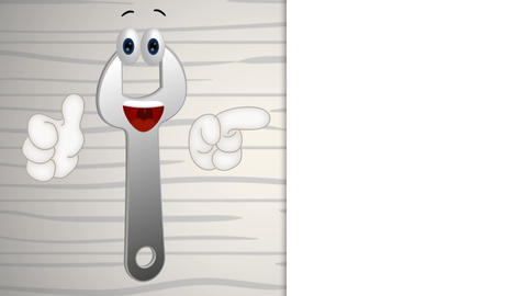 funny wrench cartoon illustration crafts tool tools Animation