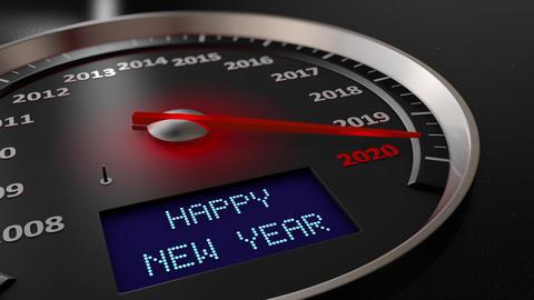 Speedometer Happy New Year 2020 Animation