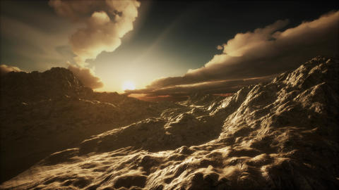 Mountain Landscape in High Altitude Footage