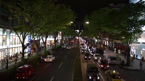 Tokyo shopping district Omotesando avenue of Japan Live Action
