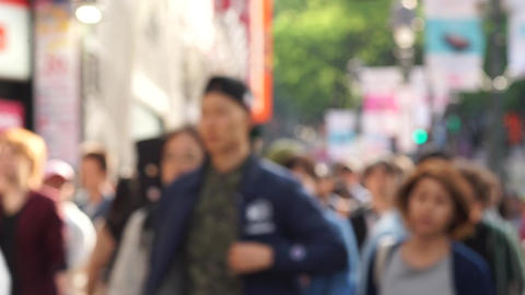 Tokyo, Japan of hustle and bustle (blur) Footage