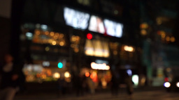 Crosswalk, night view, jade blur (city of the night view / transportation of the Live Action