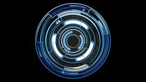 Sci-fi design element rotating circle HUD After Effects Template