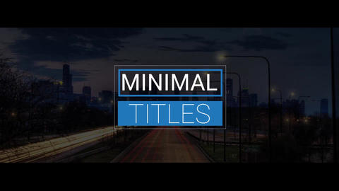 15 Minimal Titles After Effects Template