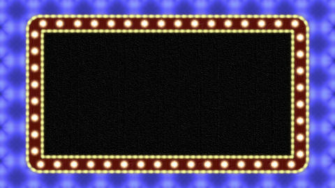 Vintage Flashing Light Neon Sign With Lamps Frame Border Animation Background Animation