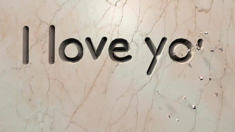 Marble carving - I love you Animation