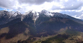 18a Aerial High Tatra Mountain Range Slovakia 4K Footage