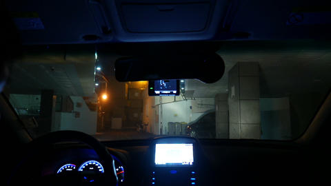 Ready for Night driving Timelapse, Inside windshield, Busan in Korea Footage