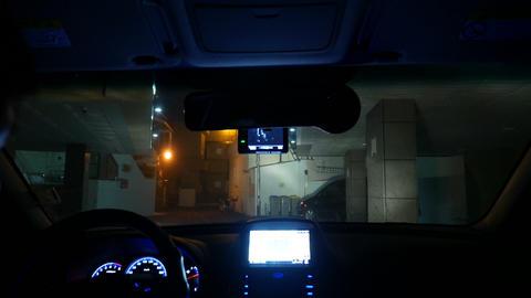 Ready for Night driving Timelapse, Inside windshield, Busan in Korea Footage
