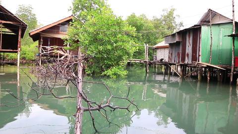 Fishing village on small island ビデオ