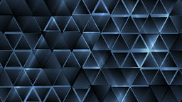 Dark blue abstract tech triangles video animation CG動画素材