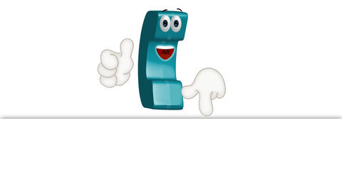 Funny Cartoon Phone Handset Illustration Comic Animation