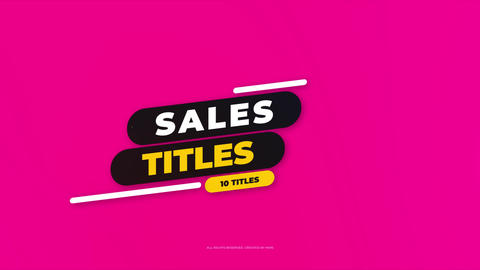Sales Titles Premiere Proテンプレート