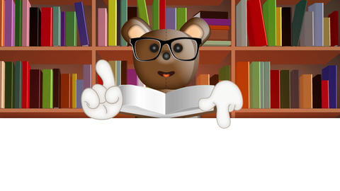 Toby Ted Teddybear learning school preschool collage pupil Animation