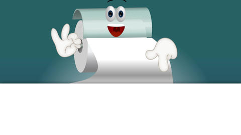 Funny toilet paper cartoon comic illustration note Animation