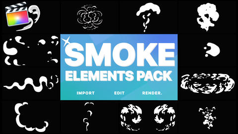2DFX Smoke Elements Apple Motion Template