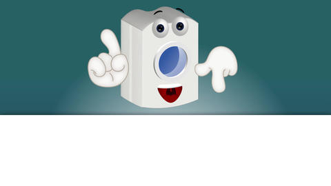 Funny washing machine cartoon illustration comic Animation