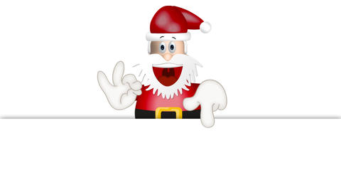 Funny Santa Claus xmas christmas illustration cartoon Animation
