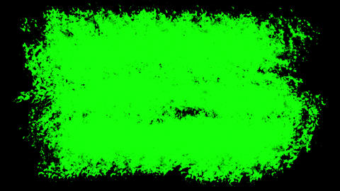 Three Brush stroke on the surface. The prepared element for mixing frames Animation
