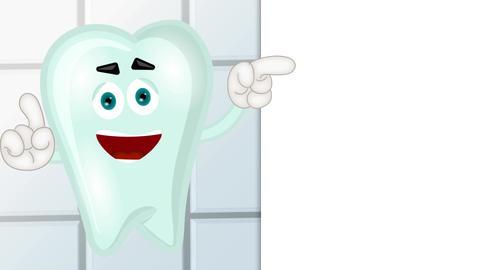Funny tooth cartoon comic illustration children Animation