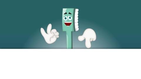 Funny toothbrush tooth brush dentist children cartoon ビデオ