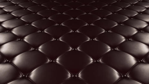 3D animation of the flight over a black quilted leather surface. Looped video CG動画素材