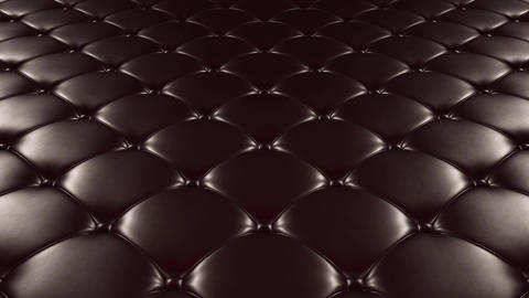 [alt video] 3D animation of the flight over a black quilted leather…