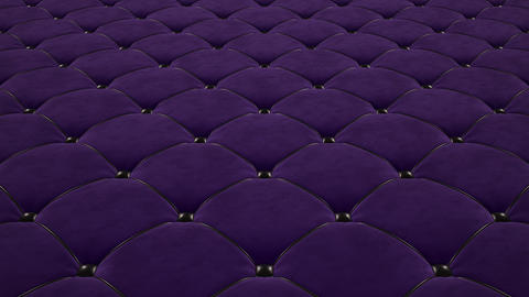 3D animation of the flight over a purple quilted velvet surface with black drawstrings. Looped video Videos animados