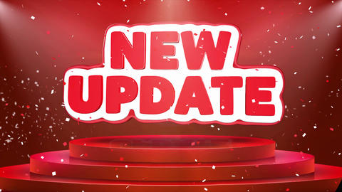 New Update Text Animation Stage Podium Confetti Loop Animation Live Action