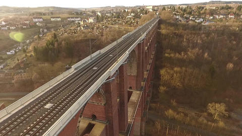 train bridge europe germany thuringia travelling Footage