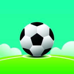 Football on grass and line with sky background vector illustration.Football tournament, Soccer with Vector