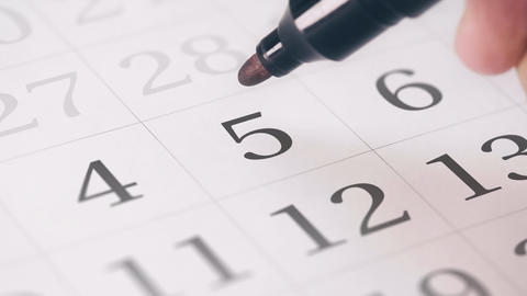 Marked the fifth 5 day of a month in the calendar…, Live Action