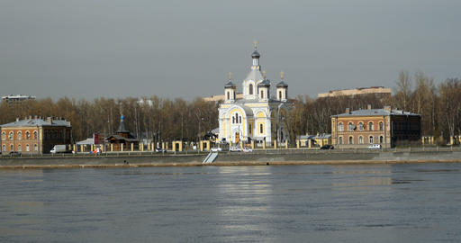 Church of the Holy Trinity in St. Petersburg Footage