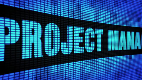 Project Management Side Text Scrolling LED Wall Pannel Display Sign Board Live Action