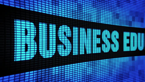 Business Education Side Text Scrolling LED Wall Pannel Display Sign Board Footage