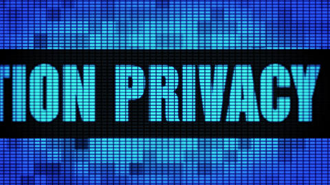 Information Privacy Front Text Scrolling LED Wall Pannel Display Sign Board Footage
