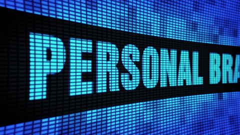 personal branding Side Text Scrolling LED Wall Pannel Display Sign Board Footage