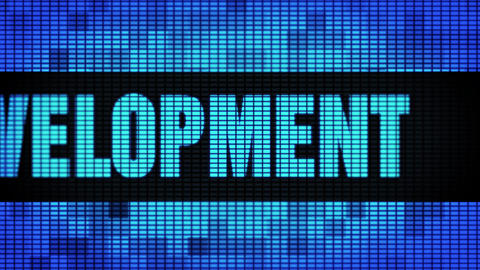 Web Development Front Text Scrolling LED Wall Pannel Display Sign Board Footage
