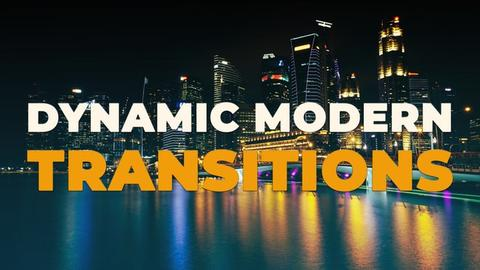Dynamic Modern Transitions Premiere Pro Template