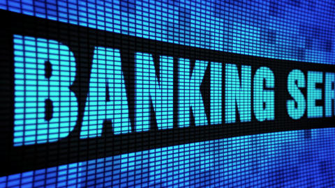 Banking Services Side Text Scrolling LED Wall Pannel Display Sign Board Live Action