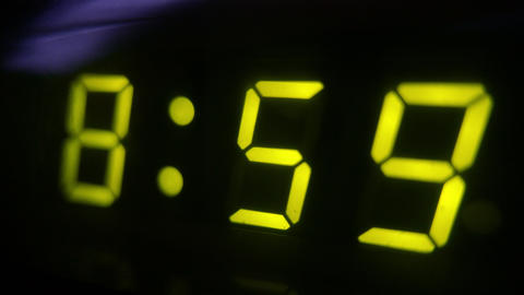 4K Digital Clock Turn to 9 Footage