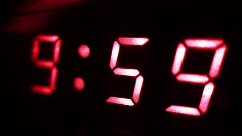 4K Digital Clock Turn to 10 Futuristic Design 2 Footage