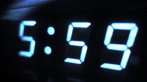 4K Digital Alarm at 6 Futuristic Design 1 Footage