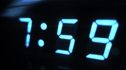 4K Digital Alarm at 8 Futuristic Design 1 Footage