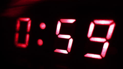 4K Digital Clock Turns to 1 Sci Fi Design 2 Footage