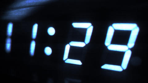 4K Digital Clock Turn to 11 30 Futuristic Design 1 Footage