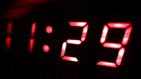 4K Digital Clock Turn to 11 30 Futuristic Design 2 Footage